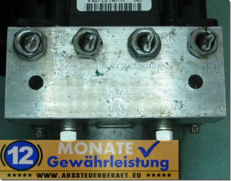 ABS Block 0265235494 Bosch 0-265-950-811 47660-9U40A Nissan Note