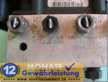 ABS Block 0-265-236-006 0265950409 3451-6774852-01 3452677485401 BMW