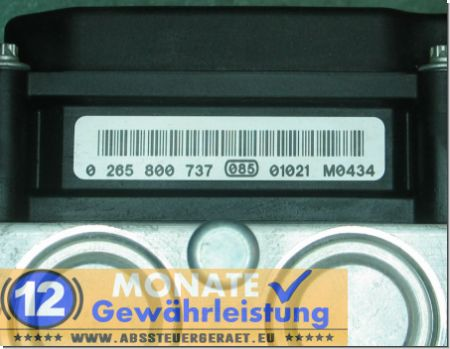 Bloc ABS 476600053R 0265237015 Bosch 0-265-800-737 Master Movano