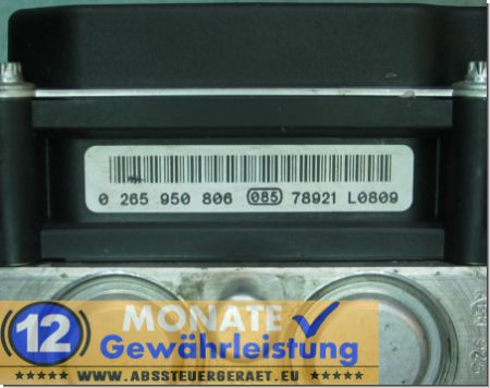 ABS Unit 14-012-595-80 0265950806 Bosch 0-265-235-486 Citroen C8 Peugeot 807
