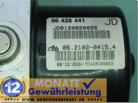 ABS Pump 96438441 JD 06.2102-0415.4 Ate 06210908253 Chevrolet Lacetti