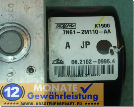Centralina ABS 7N612M110AA 06.2102-0996.4 Ate 06210952183 Mazda 5