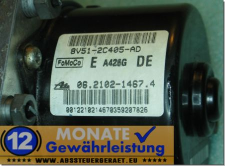 ABS Block 8V512C405AD 062102-14674 Ate 062109-56193 Ford Fiesta