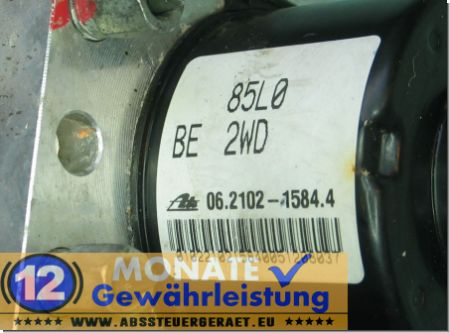Centralina ABS 85L0-BE-2WD 06210215844 Ate 06.2109-5784.3 Splash Agila