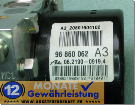 ABS Pump 96-860-062 06219009194 Ate 06.2109-5206.3 Chevrolet Epica