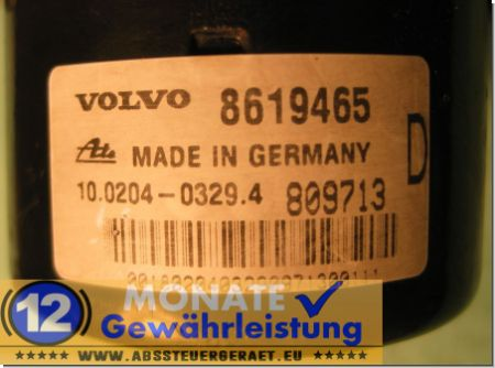 Bloc ABS 8619465 8619466 10020403294 Ate 10.0947-0407.3 Volvo S60 V70 S80