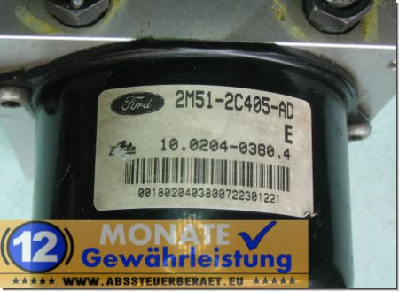 ABS Steuergerät 2M512C405AD 10020403804 Ate 10092501133 Ford Focus