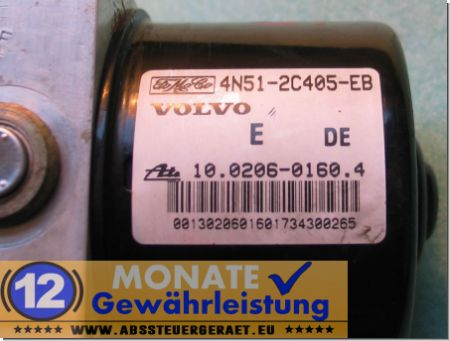 ABS Block 4N512C405EB 30672506-A 10020601604 10.0960-0417.3 Volvo S40 V50