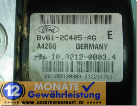 ABS Block BV612C405AG 10.0212-0803.4 Ate 10096101913 Ford Focus C-Max