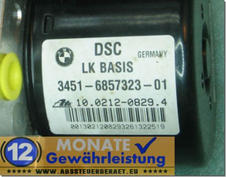 ABS Block 3451-6857323-01 6857324 10.0212-0829.4 Ate 10096208243 BMW