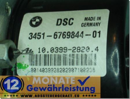 ABS Block 3451676984401 3452-6769845-01 10039928204 Ate 10.0960-0827.3 BMW E87