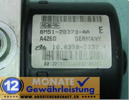 ABS Pump 8M512B373AA 10.0399-3330.4 10096001253 Mazda 3 5 Ford Focus C-Max