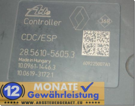 Modulo ABS 476602642R 100212-04234 Ate 285610-56053 Megane Scenic