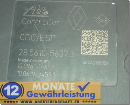 Modulo ABS 476606075 100212-05364 Ate 285610-56073 Renault Megane
