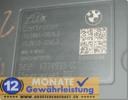 ABS Block 3451677493101 3452-6774932-01 10021200384 Ate 10.0961-0828.3 BMW