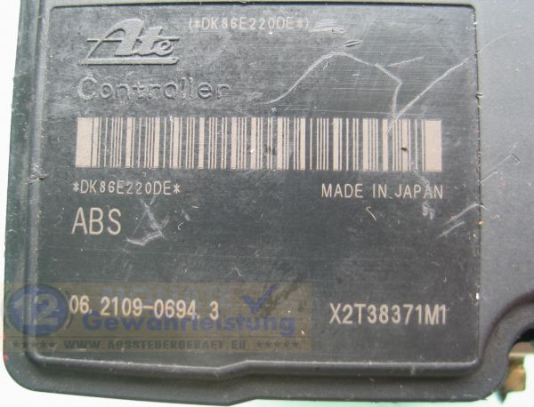 ABS Block 64J0 4WD 062102-05794 Ate 062109-06943 Suzuki Grand Vitara