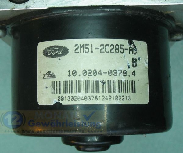 Centralina ABS 2M51-2C285-AD 10020403784 Ate 10.0925-0116.3 Ford Focus Transit Connect